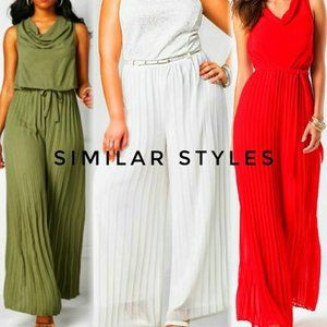 Coral Draped & Accordion Pleated Maxi Jumpsuit